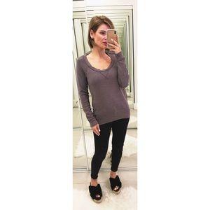 Splendid Heather Fleece Sweatshirt in Gray